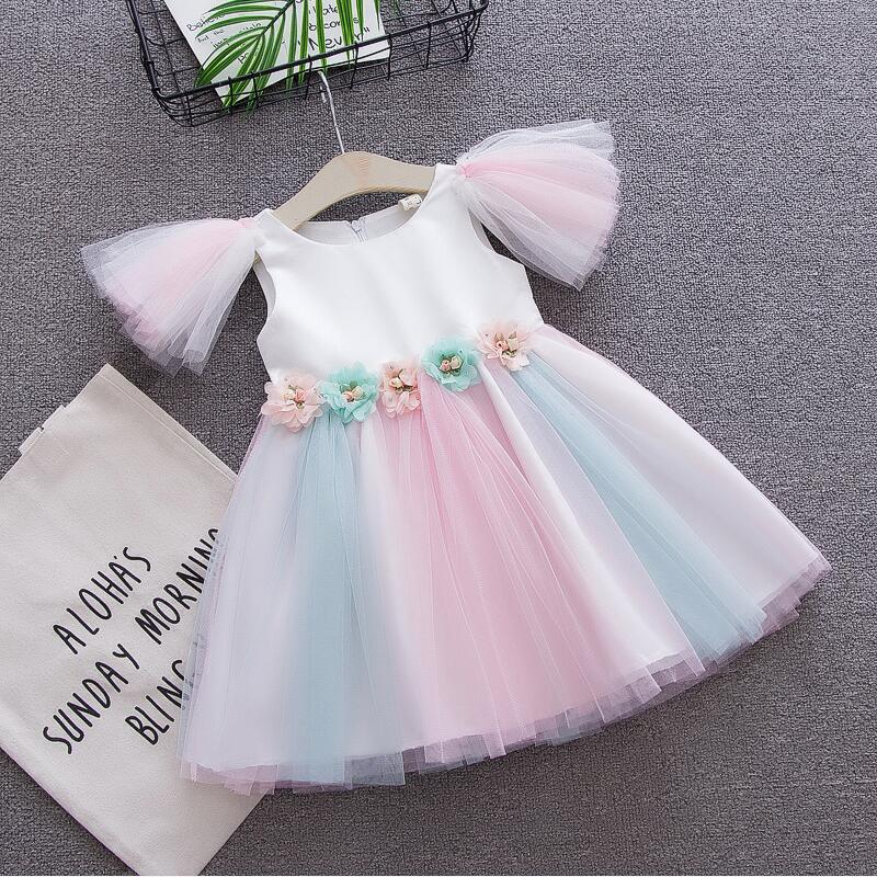 2018 Baby Dress Baby Girl Clothes Summer Fashion Floral Infant Dresses for Girls Princess Party tutu Dress Toddler Clothing