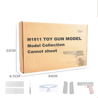 Plastic M1911 Model Gun Toys For Children Air Soft Guns Cannot Shoot Manual Hand Kids Collection Pistol Weapon Gifts for Boys