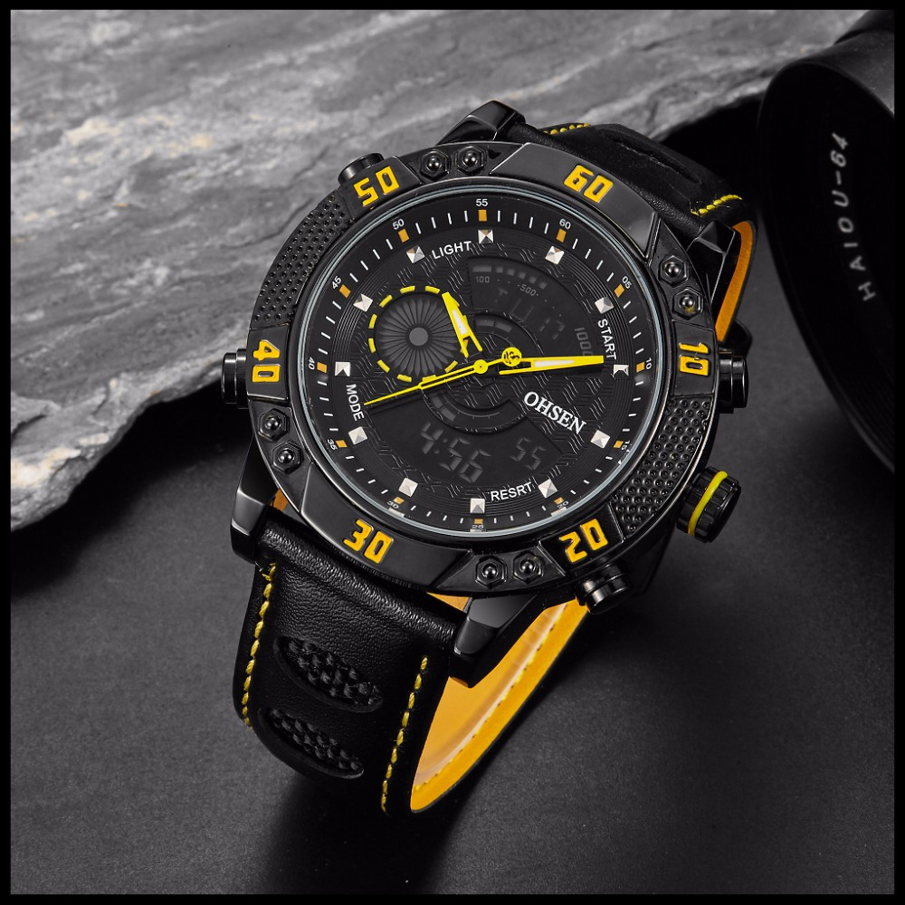 OHSEN Brand Mens Fashion Casual Reloj Quartz Watch Digital LED Relogios Military Relogio Masculino Diving Waterproof Men Watches (41)