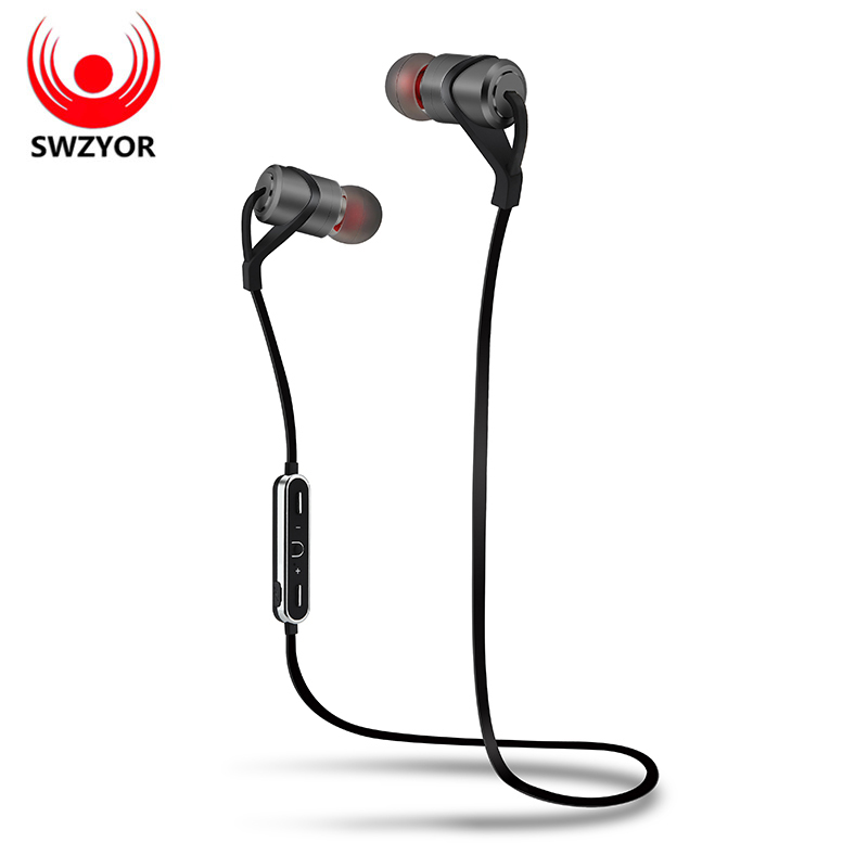 SWZYOR D9 Wireless Headphone CSR Bluetooth V4.1 Earphone Metal Headset Bass Earbuds With Mic Hands-free Call for Earpods Android mini bluetooth earphone leather business hands free stereo headset fashion car headphone with mic earbuds a2dp for android ios