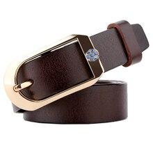Ladies Elegant Genuine leather Pin Buckle Belt