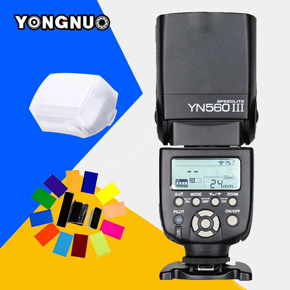 Yongnuo YN560 III YN-560 III YN560III Universal Wireless Flash Speedlite For Canon Nikon Pentax Panasonic Olympus Vs JY-680A yongnuo yn300 iii yn 300 iii yn300 iii pro led video light for dv camcorder canon nikon pentax olympus samsung panasonic jvc