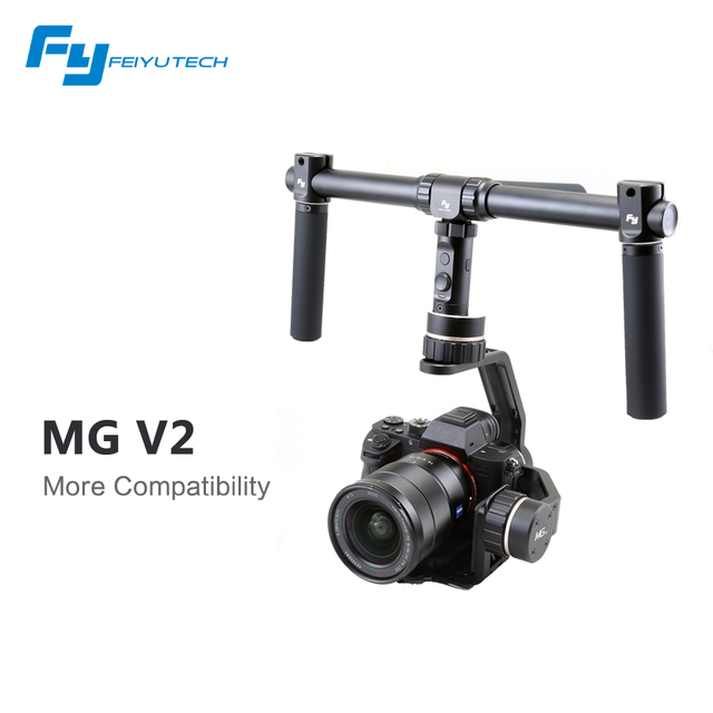 FeiyuTech new update 3 axis mirrorless camera gimbal FY MG V2 for Sony NEX/A7 2/Canon 5D Mark III/LUMIX GH4