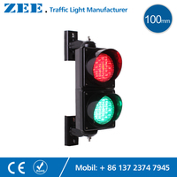 4 Inches 100mm LED Traffic Light Lamp Red Green Traffic Signal Light Parking Lot Signal Entrance