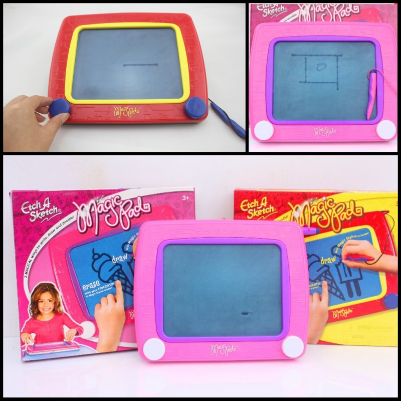 Top quality Classic etch marker magic screen drawing toy 2colors portable drawing sketch pad d10