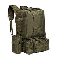 업그레이드 된 50l molle 전술 배낭 남자 배낭 야외 스포츠 가방 캠핑 하이킹 여행 등산 bagpack 4 1 군사 가방