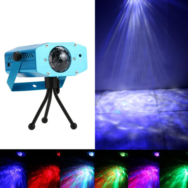 LED Laser Pointer Disco Stage Light Water Wave Effect Lighting Party Club DJ Disco Light Projector Show Laser Projector Lights