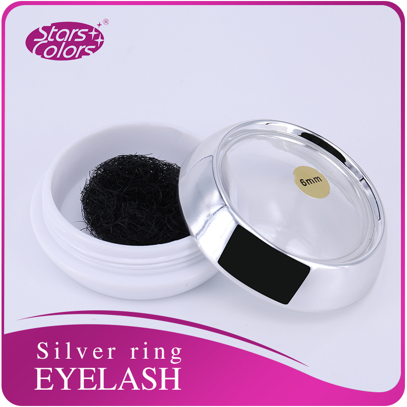 Silke Individual False Eyelash Extension C Curl naturlige falske single Ultra Black og Long Silk Eyelash 0.15mm vipper