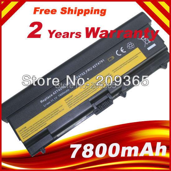 """9cells 7800mAh Batería para Lenovo ThinkPad L410 L412 L420 L421 L510 L520 SL410 SL510 T410i T410i T420 T510 T520 Edge 14 """""""