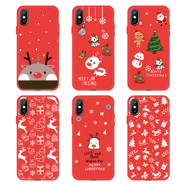 New Year Merry Christmas Case For iPhone 11 Pro XS XR XS MAX X 7