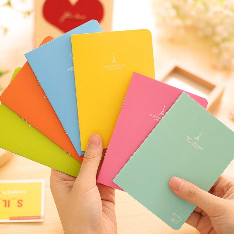 Genial 6 Teile/los Süßigkeit A6 Notebook Rilakkuma In Paris Tagebuch Buch Weiche Copybook Vintage Caderno Büro Schulbedarf 6481 SchöNer Auftritt Notebooks