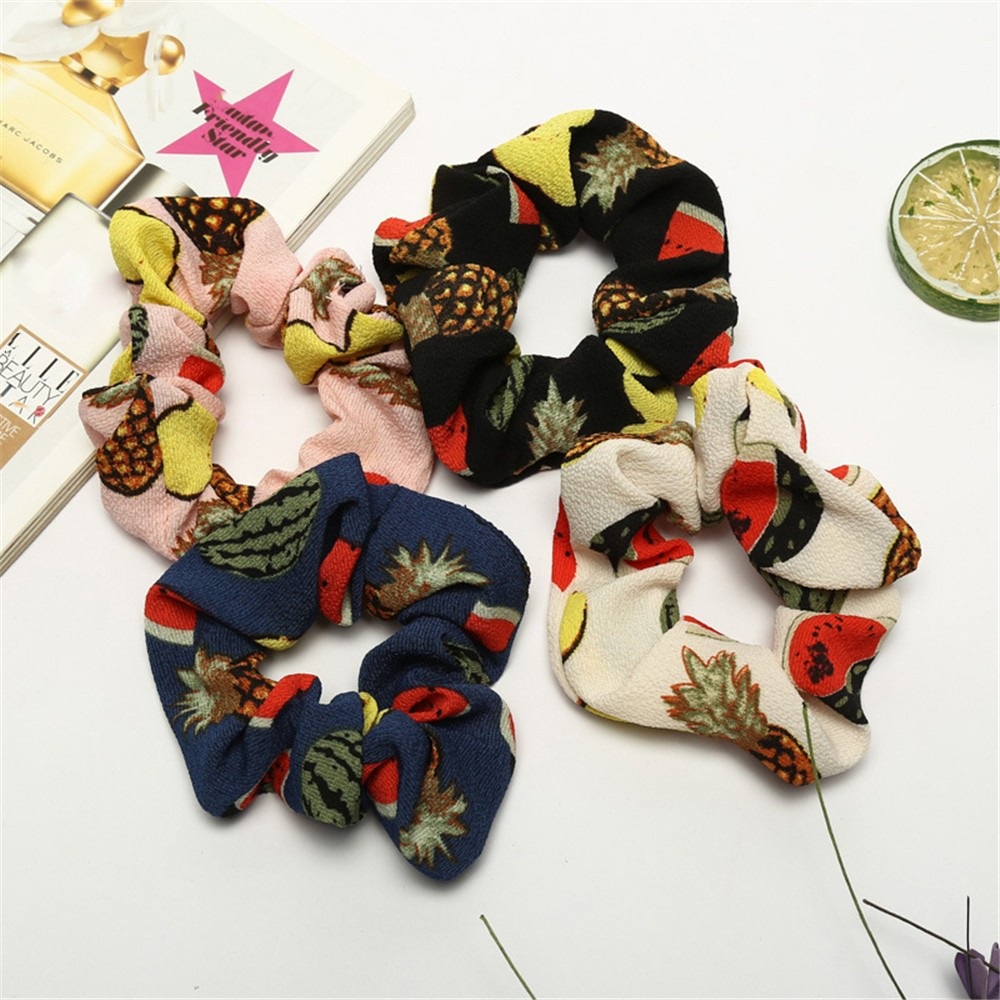 Scrunchie Women Elastic Hair Rope Ring Tie Scrunchie Ponytail Holder Hair Band Headband 0485