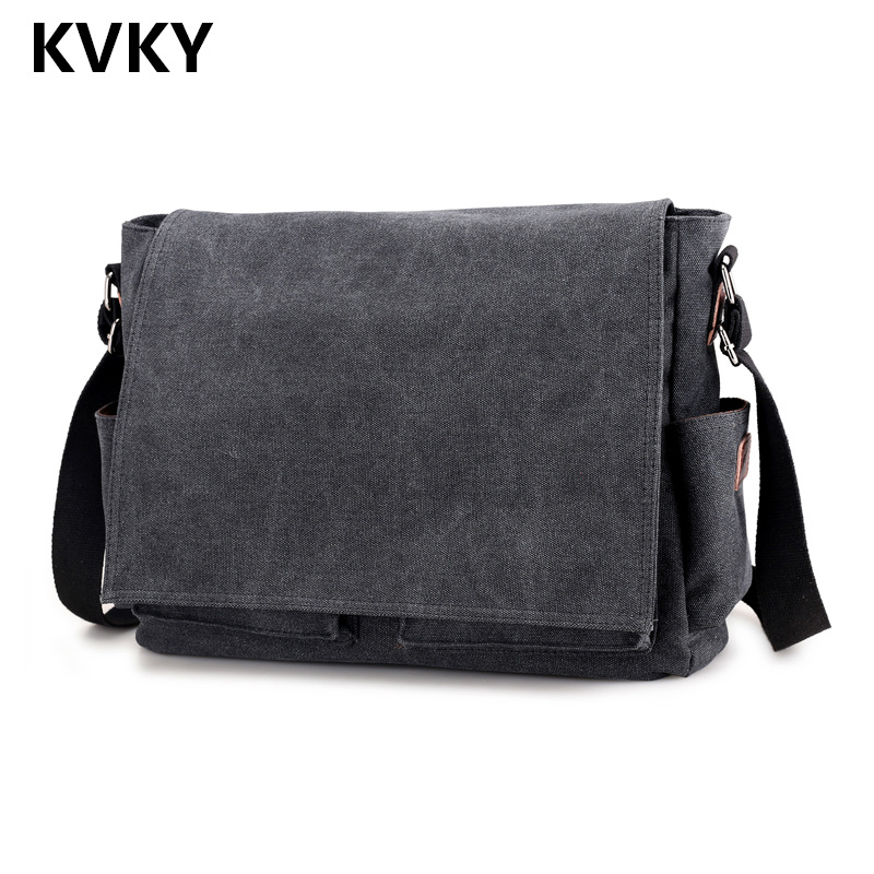 2018 Vintage Men Canvas Bag High Quality Casual Handbags Crossbody Bag Solid Shoulder Bags Men Messenger Bags Travel Male Bolsas high quality canvas leather men postman bag wholesale messenger bag vintage canvas shoulder belt bags travel bags for men