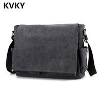 2018 Vintage Men Canvas Bag High Quality Casual Handbags Crossbody Bag Solid Shoulder Bags Men Messenger