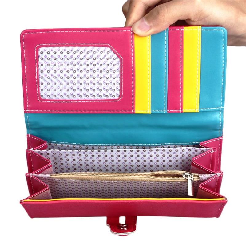New Fashion Wallet Women Small Fresh Wallet Mobile Phone Bag Leather Hasp Long Design Purse Women's Wallets dames portemonnee 4