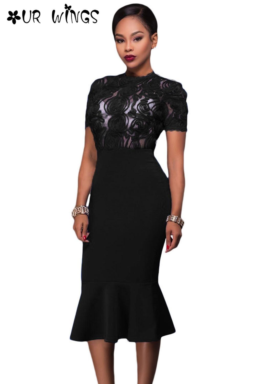 Online Get Cheap Elegant Black Sheer Black Dresses -Aliexpress.com ...