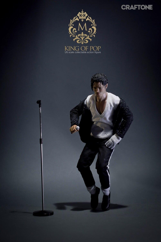 """1/6 scale figure Pop superstar MichaeJackso Billie Jean 12 """"Action รูปตุ๊กตารุ่นสะสมของเล่นพลาสติก-ใน ฟิกเกอร์แอคชันและของเล่น จาก ของเล่นและงานอดิเรก บน   3"""