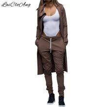 2 piece set women 2017 new runway spring autumn fashion star long sleeve crop top and pant set Women clubwear work wear casual