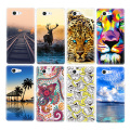 Premium Phone Case For Sony Xperia XA Z3 Compact Mini Z1 Z2 Z3 Z4 Z5 Deer Banana Painted Pattern TPU Back Cover Clear Shell