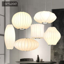 Японские татами Овальный Круглый белый подвесной светильник творческий Китайский подвеска «фонарь» освещения светодиодный подвесной