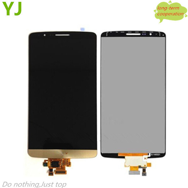 HK Free shipping 100% Tested Original For OEM LCD Screen and Digitizer Assembly for LG G3 D850 D855 D852 - Gold
