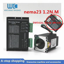 цена на NEMA 23 CNC Kits Micro Stepper Driver AC24V-50V 2 Phase Easy Stepper Motor 1.2Nm 1.8 Degree 3A for CNC Engraving Machine