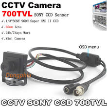 High Quality! 700TVL 1/3-inch SONY 960H Super HAD II CCD OSD Menu 25mm lens Mini CCTV system security Camera free shipping