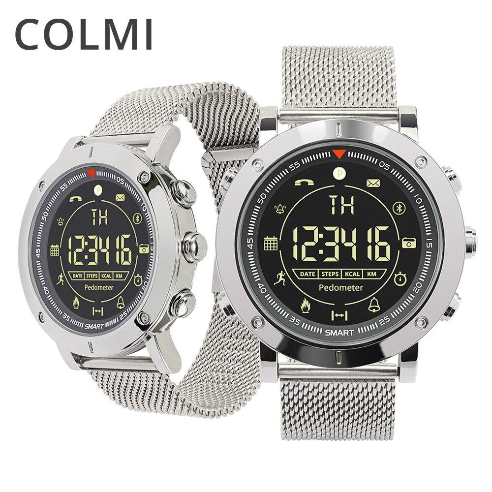 Reloj inteligente deportivo informal insignia de COLMI 33 meses tiempo de espera 24 h reloj inteligente de monitoreo de todo el tiempo para IOS y Android