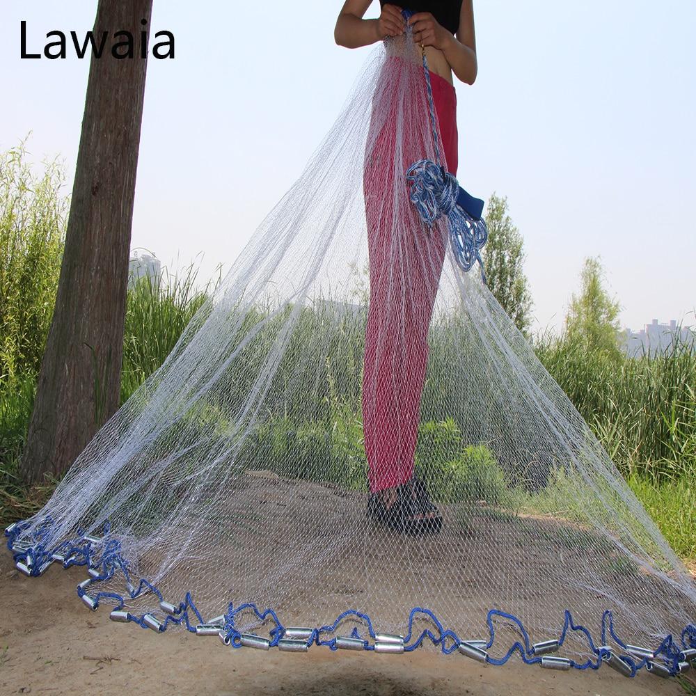 Lawaia American Hand Cast Net Diameter 2.4- 7.2m Fishing Net 4.2m Fishing Network 3m Fishing Nets Or No Pendant Fishing-nets