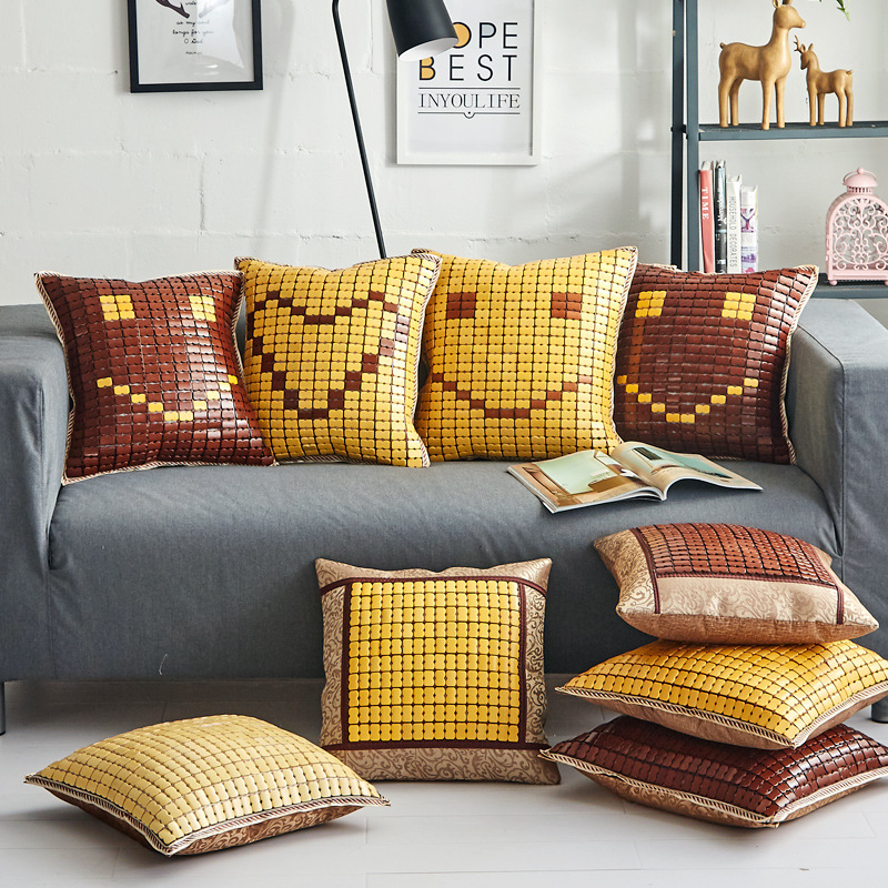 Lumber Pillow Back-Cushion Sofa Mahjong-Seat Cool Office Summer Car And Relieve Soreness