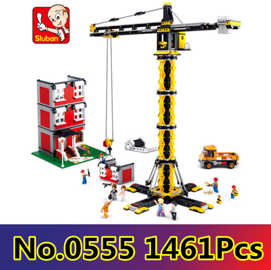 Model building kit compatible with lego city engineering Tower cranes 1461 pcs 3D blocks Educational model building toys hobbies