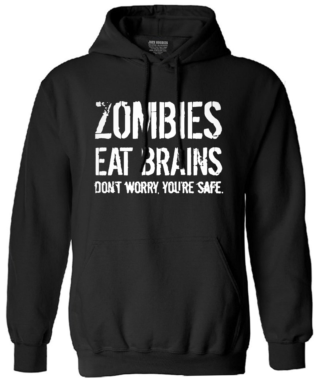 Mens Zombies Eat Brains So Youre Safe sweatshirt men Funny tracksuit male hooded fashion 2017 new autumn winter fleece hoodies