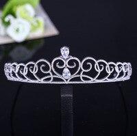 WANWII Simple Korean High Grade Luxury Zircon Bride Crown Birthday Crown Wedding Dress Ornaments Wedding HeaddressAQ2190