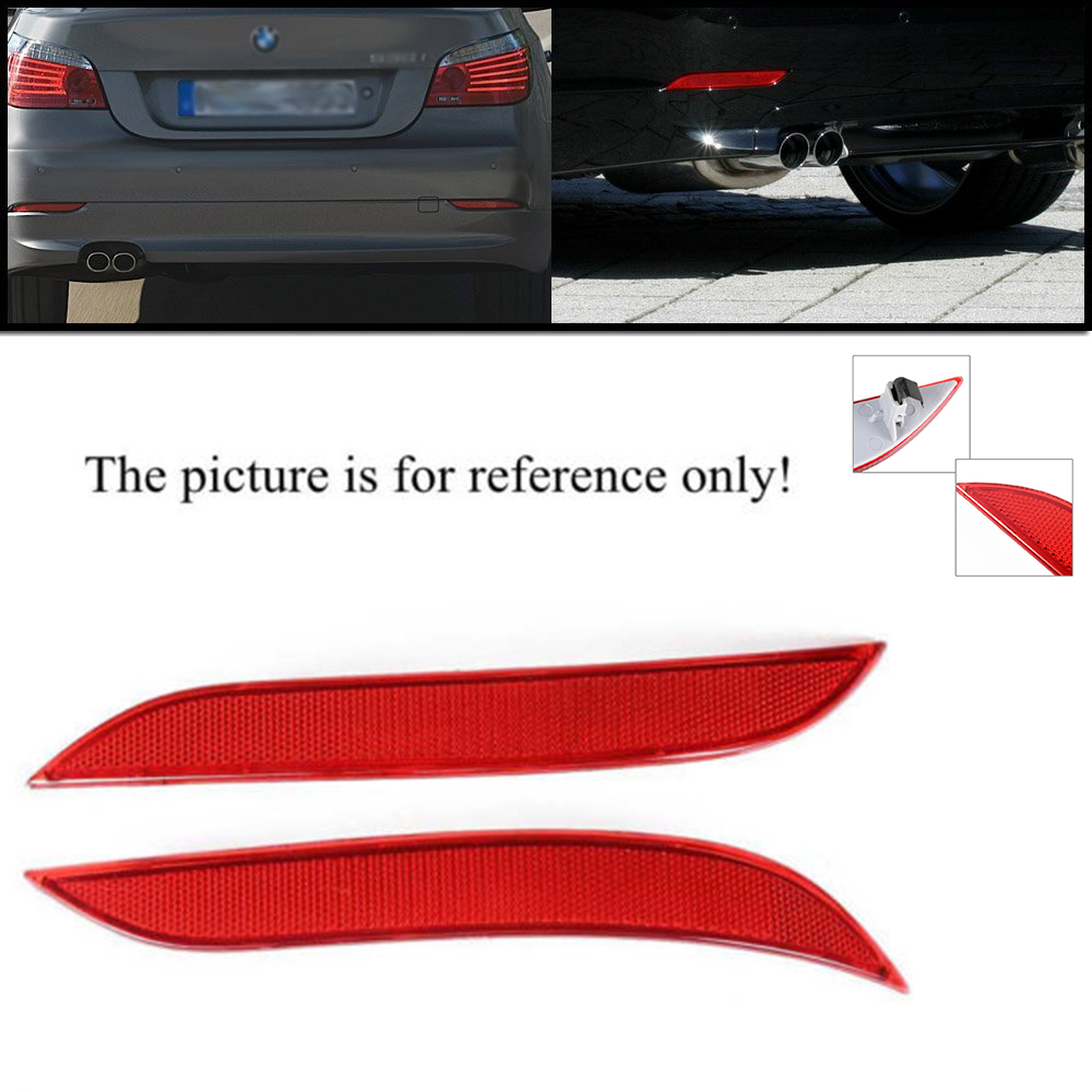 GSRECY Front Bumper Reflector Side Marker Lights For BMW F30 3 Series F32 F33 F36 4-Series Smoke Lens