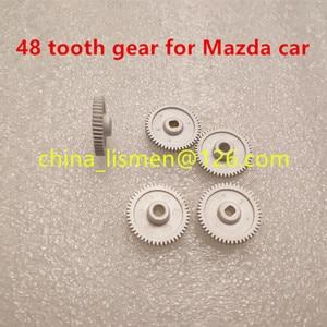 Image 4 - 1 piece 48 teeth motor Rearview mirror Metal iron gear for Mazda 6 8 car rearview mirror