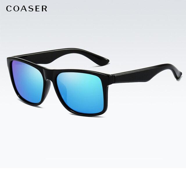 c8c359d0eff COASER 2018 New Square Polarized Sunglasses Men s Aviation Driving Men  Sunglasses Shades Male Anti-glare Sun Glasses Retro Cheap