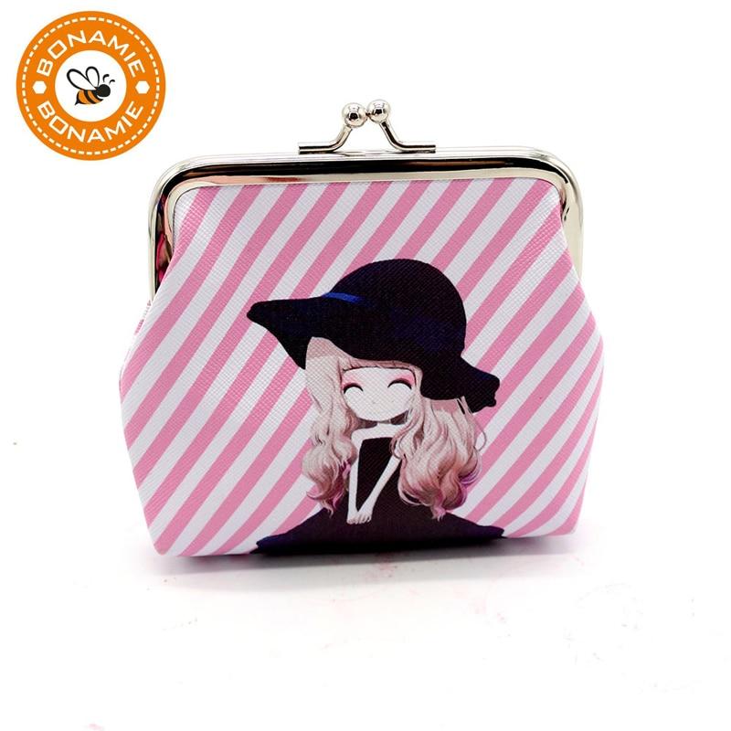 BONAMIE New Creative Women Purses Cute Cartoon The Explosion Small Fresh Girl Bag Headset Line Coin Purse Card Bag Wholesale