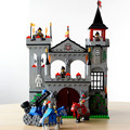Enlighten Средневековый Замок Льва Рыцарь Перевозки Строительные Блоки Устанавливает Модель Кирпичи Игрушки Для Детей, Совместимость с лепин DIY