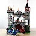 León castillo medieval caballero carro enlighten building blocks establece ladrillos modelo juguetes para niños compatibles con lepin diy