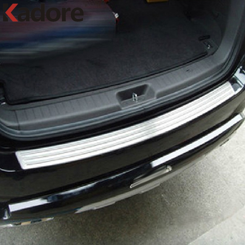 FOR Hyundai Santa Fe 2010 2011 Stainless Steel Exterior Rear Bumper Sills Rear Trunk Lid Cover Trim Rust Protection Accessories