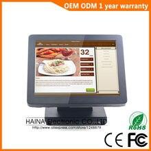Haina Touch 15 인치 메탈 터치 스크린 POS 금전 등록기 판매, 모두 하나의 PC POS 기계