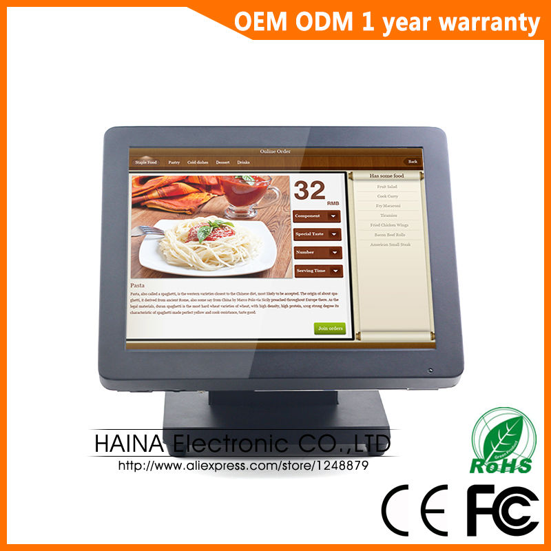 Haina Touch 15 inch Metal Touch Screen POS Cash Register For Sale, All in one PC POS Machine-in Desktops from Computer & Office