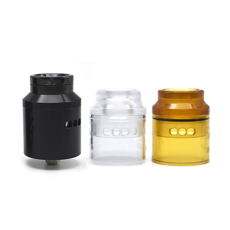 Electronic Cigarette ULTON Kali M Style PEI/PMMA/METAL Cap 25mm RDA Multi Coil Atomizer With Stand Holder Vs Kali V2 RDA