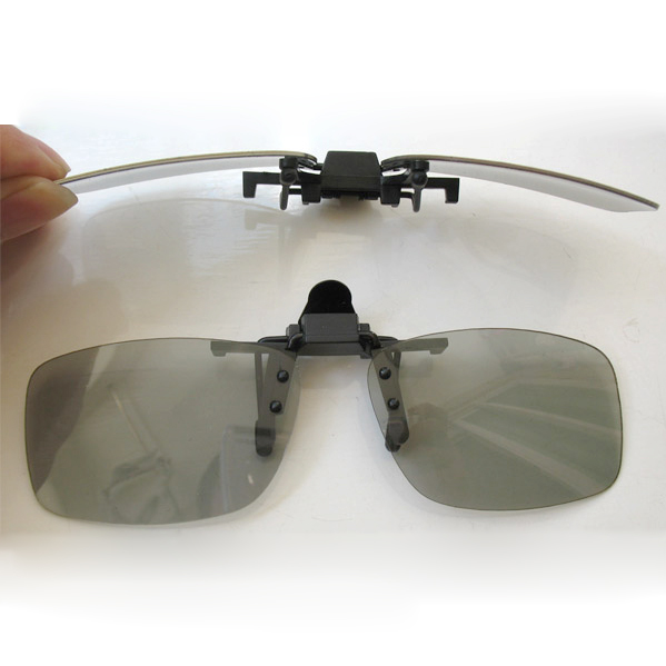 EDT-1 x 3D Glasses Clip on for CINEMA AND 3D IN THE PUB