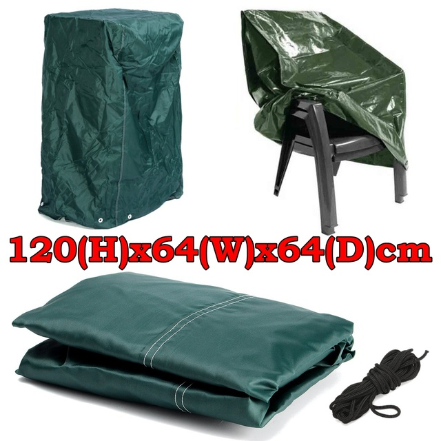 Outstanding Us 13 99 40 Off 120X64X64Cm Practical Outdoor Garden Furniture Stacking Chair Cover With Tie Down Cords Dustproof Protect Cover Cloth In Fabric From Alphanode Cool Chair Designs And Ideas Alphanodeonline