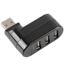 Hot Portable Mini High Speed 3 Ports USB 2 0 Hubs Computer Peripherals For Notebook Personal