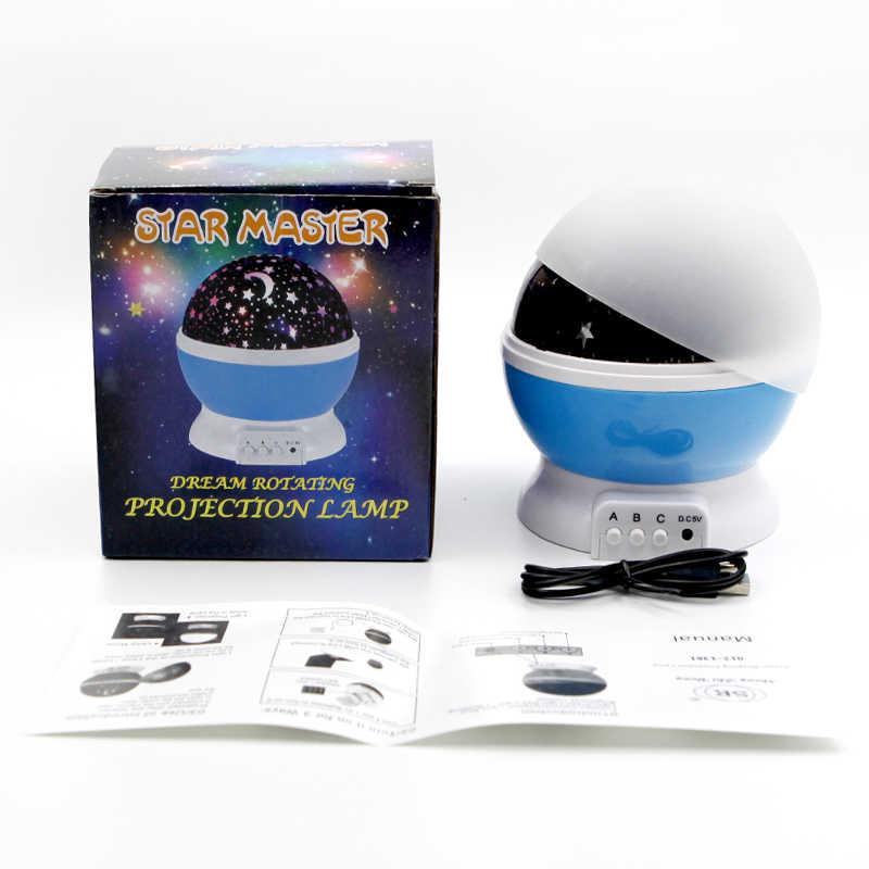 Новинка Звездный проектор Звездное небо Настольный светодиодный ночник батарея USB луна лампа 3D детский ночник подарок на день рождения игрушки