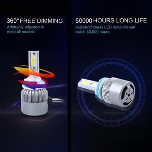 Image 5 - 6000K h4 led headlight h11 h1 9012 9005 9006 hb3 hb4 H7 led COB headlamp bulb hi lo beam car bulb Externl light source 72w 12V