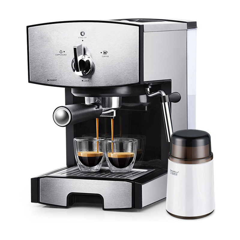 DMWD 1.25L Semi-automatic Espresso Coffee Machine Electric Milk Frothers Milk Foamer Coffee Maker High Pressure Steam 20 Bar