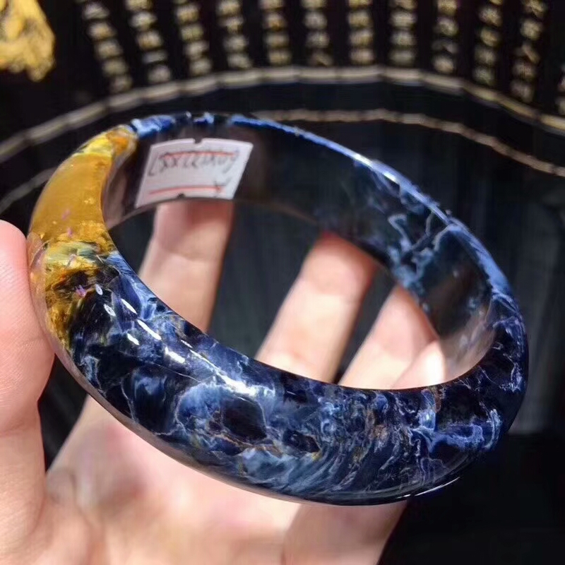 60mm Natural Pietersite Blue Yellow Gemstone Namibia Woman Bangle Bracelet From Namibia Inner Diamter 60mm AAAAAA60mm Natural Pietersite Blue Yellow Gemstone Namibia Woman Bangle Bracelet From Namibia Inner Diamter 60mm AAAAAA